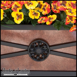 "60"" Medallion Decora Window Boxes w/ Bronze Galvanized Liner"