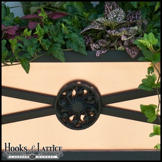 "60"" Medallion Decora Window Boxes w/ Real Copper Liner"