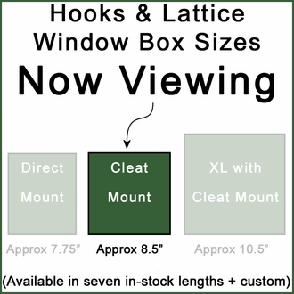 "60"" Picket Fence Premier Window Box w/ *Easy Up* Cleat Mounting System and Plastic Liners"