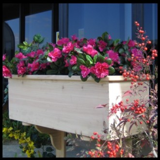 60in. Traditional Wood Planter Box