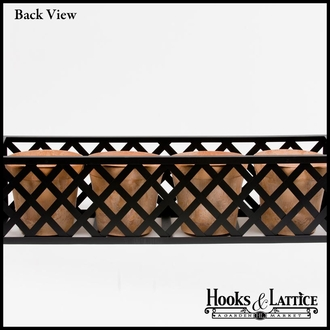 60in. Woven Iron Window & Garden Planter