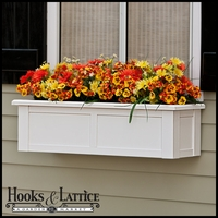 "60"" XL Hampton Premier Window Box w/ *Easy Up* Cleat Mounting System"