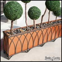 60in. Arch Design Footed Bronze Planter w/ Liner