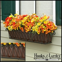 60in. Del Mar Decora Window Box w/ Textured Bronze Liner