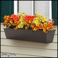 60in. Galvanized Window Box- Bronze Tone