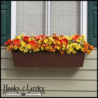 60in. Galvanized Window Box- Textured Bronze (HammeredFinish)