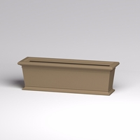 60in.L x 18in.W x 18in.H Prato Rectangular Planter