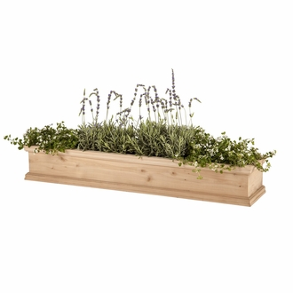 60in. Laguna Cedar Window Box with Optional Liner