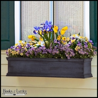 60in. Laguna Fiberglass Window Box - Distressed Pewter