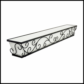 60in. Regalia Decora Window Box with White Galvanized Liner