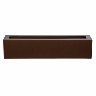 60in. Small Urban Chic Rectangular Fiberglass Porch Planter - Choose from 3 Colors