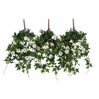 30in. Window Box Recipe - Outdoor Artificial Morning Glory Vines