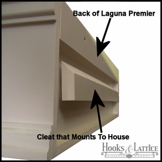 60in. XL Laguna Premier  Composite Window Box w/ *Easy Up* Cleat Mounting System