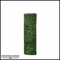 60inH Boxwood Cylinder Pillar Topiary, Fire Retardant