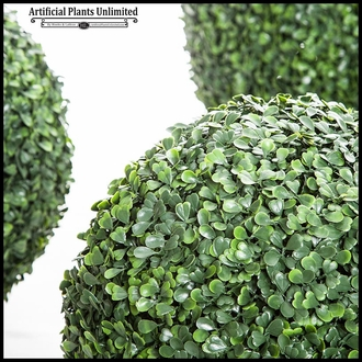 13in. Outdoor Artificial Boxwood Topiary Ball