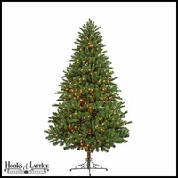 7.5 ft Mixed Pre-Lit Spruce Artificial Christmas Tree w/ Clear Lights