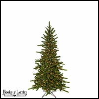 5 ft Russian Pre-Lit Pine Artificial Christmas Tree w/ Warm White LED Lights