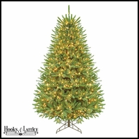 7.5 ft Flintridge Pre-Lit Fir Artificial Christmas Tree w/ Clear Lights