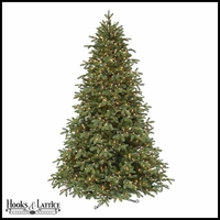 7.5 ft Jingle-Spirit Pre-Lit Fir Artificial Christmas Tree w/ Clear Lights