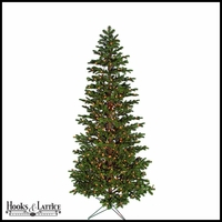 7.5 ft Emerald Pre-Lit Fir Artificial Christmas Tree w/ Clear Lights
