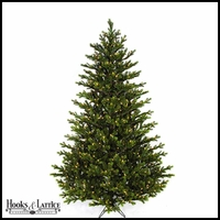7.5 ft English Pre-Lit Fir Artificial Christmas Tree w/ Warm White LED Lights
