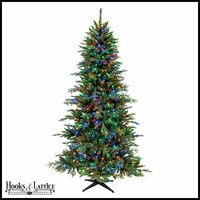 7.5 Ft Hollybrook Pre-Lit Artificial Pine Christmas Tree w/ Mulit-Color LED Lights