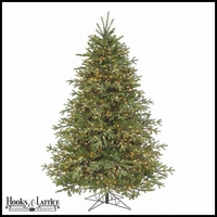 7.5 ft Kent Pre-Lit Spruce Artificial Christmas Tree w/ Clear Lights