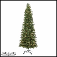 75 ft slim deerhaven pre lit pine artificial christmas tree w clear lights - Slim Christmas Tree With Led Lights