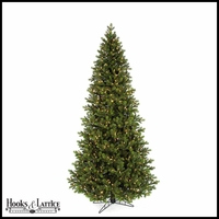 7.5 ft English Fir Pre-Lit Artificial Christmas Tree w/ Clear LED Lights