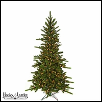 7.5 ft Russian Pre-Lit Pine Artificial Christmas Tree w/ Warm White LED Lights