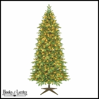 7.5 ft Slim Asheville Pre-Lit Fir Artificial Christmas Tree w/ Clear Lights