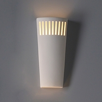 "7.5"" Parallelogram Ceramic Sconce w/ Upper Light Grill"
