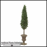 7' Artificial Laurel Cone Topiary Tree - Indoor