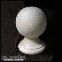 "7"" B1 Wood Ball Finial- Furniture Grade"