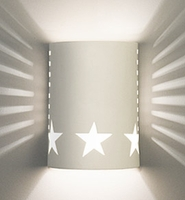 "7"" Big Star Cylinder Sconce w/ Side Vents"