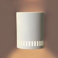 "7"" Contemporary Sconce w/ Lower Cut Out Border"