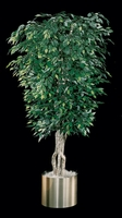 7' Fire Retardant Sculptured Ficus Tree - 3,192 Leaves