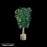 7' Sculptured Ficus - Green | Indoor