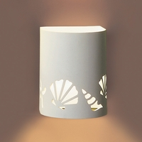 """7"""" Seashell Motif Cylinder Wall Sconce"""