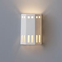 "7"" Three Fold Geometric Wall Sconce w/ Window Borders"