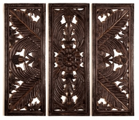 """70""""W x 54""""H Wood Carving Wall Decor"""