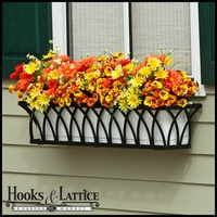 72in. Arch Decora Window Box w/ (2) Vinyl Liners