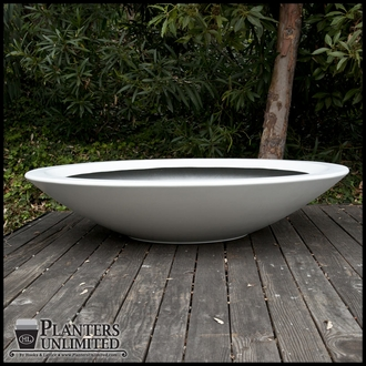 "72""Dia. x 15""H Modern Low Bowl Planter"