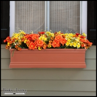72in. Terra Cotta Supreme Fiberglass Window Box