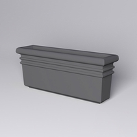 "72""L x 18""W x 30""H Orvieto Rectangle Planter"