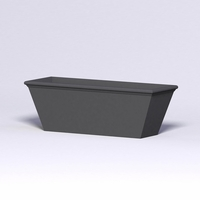 Tuscana Tapered Fiberglass Commercial Planter 72in.L x 24in.W x 24in.H