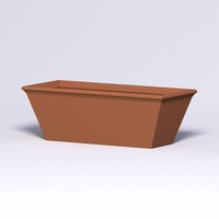 Tuscana Tapered Fiberglass Commercial Planter 72in.L x 30in.W x 24in.H