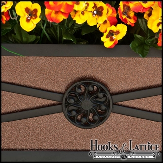 "72"" Medallion Decora Window Boxes w/ Textured Bronze Liners"