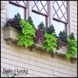 "72"" Newport Premier Window Box w/ *Easy Up* Cleat Mounting System"