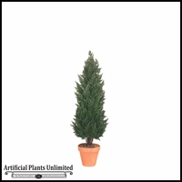 6' Outdoor Artificial Cypress Shrub